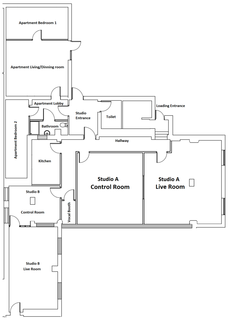 Studio Full floorplan